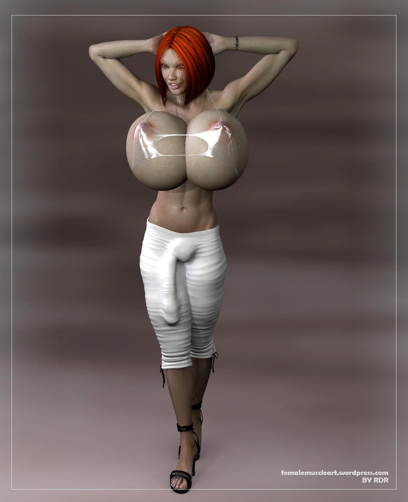 mega boobs futanari